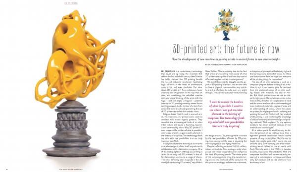 3D-printed art: the future is now