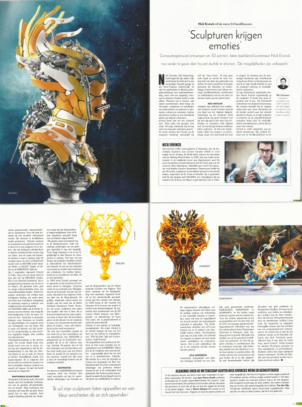 Sculpturen krijgen emoties, EOS Magazine